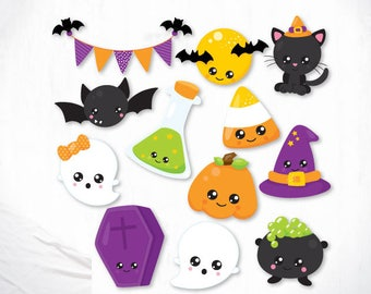 Halloween Cuties cutting files, svg, dxf, pdf, eps included - cut files for cricut and silhouette - Cutting Files SVG