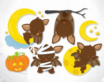 Halloween Bats cutting files, svg, dxf, pdf, eps included - cut files for cricut and silhouette - Cutting Files SVG
