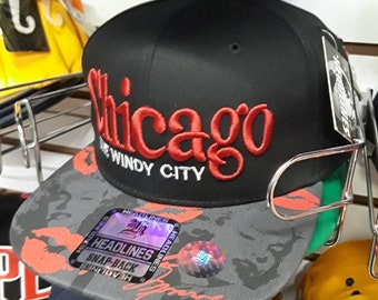 Max Head Gear premium snapback hat,  Chicago cap
