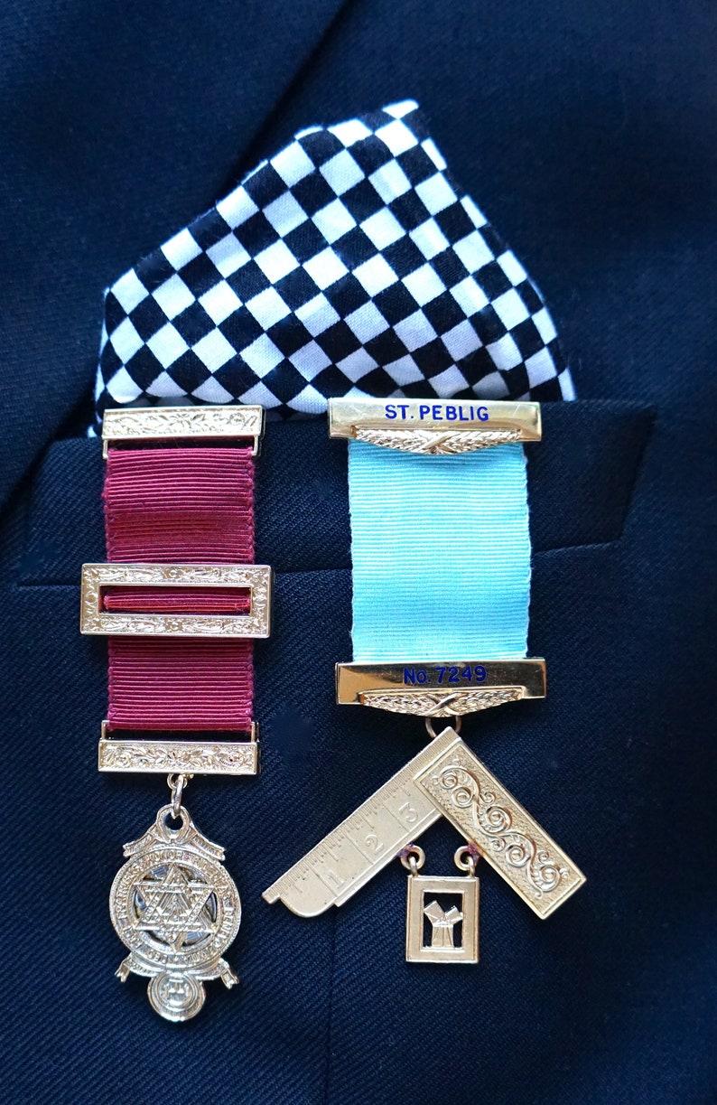 Masonic Jewels Pocket Display Card AND Masonic Inspired Pocket Square