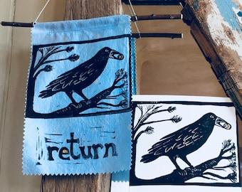 prayer flag panel- return