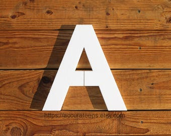 15 inch tall, 1 inch thick foam letter for crafting, painting, hanging, party decoration / Modified Arial