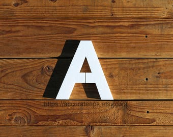 10 inch tall, 1 inch thick foam letter for crafting, painting, hanging, party decoration / Modified Arial