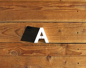 5 inch tall, 2 inch thick foam letter for crafting, painting, hanging, party decoration / Modified Arial