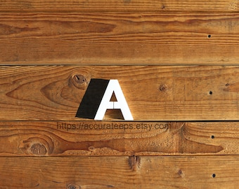 5 inch tall, 1 inch thick foam letter for crafting, painting, hanging, party decoration / Modified Arial