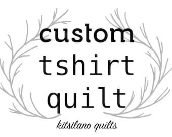 Custome Tshirt Quilt, Tshirt Blanket - 20 Tshirts