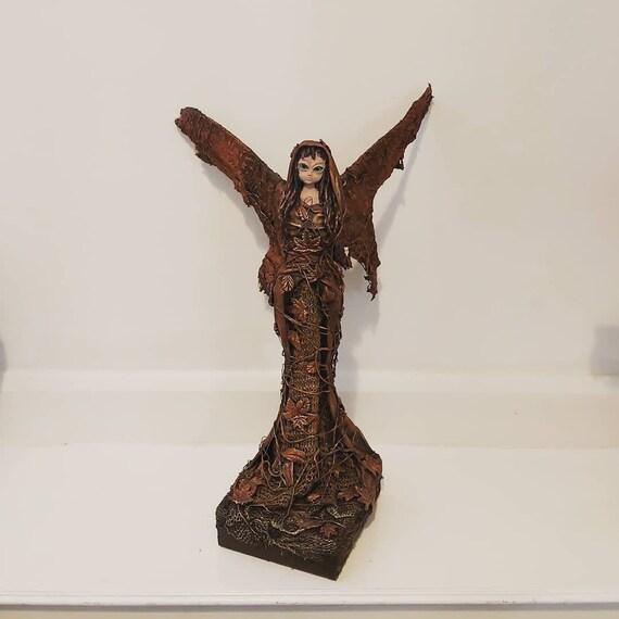 Autumn Fairy Sculpture Handmade Fantasy Art Fairytale Etsy