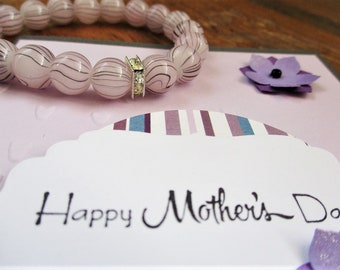 Mothers Day gift set, Mothers day card, Jewellery set