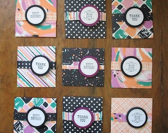 Notecards, enclosure cards, gift tags, message cards