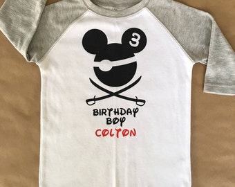 Disney Birthday Boy Pirate Shirt