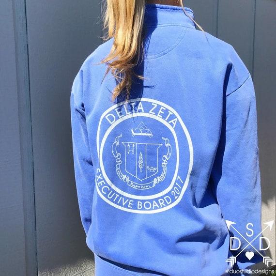 Alpha Kappa Delta Phi Cuddly 1//4 Zip Pullover