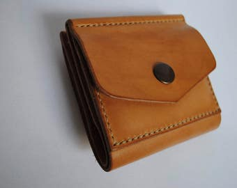 Leather handmade wallet