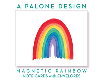 Magnetic Rainbow #1 – 10 Folded Note Cards with Envelopes