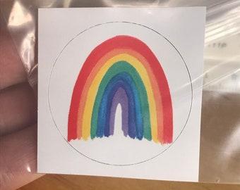 "Stickers! –Magnetic Rainbow #1 –10 Sticker Set (1.5"" diameter)"