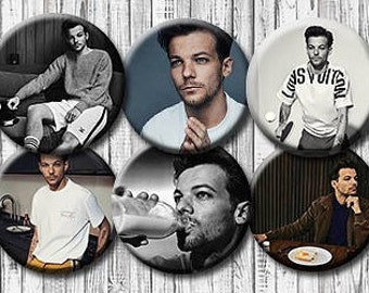 """LOUIS TOMLINSON - Pinback Button/Badge Pack (1.25"""") - One Direction, 1D"""