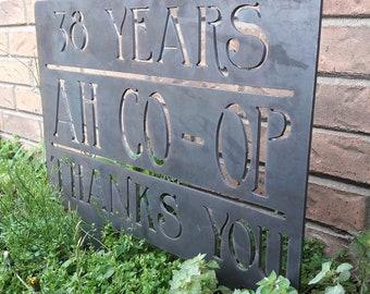 Custom Metal Garden Sign