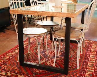Metal Table Legs (2 PC Set) - 2 INCH - Steel Table Base - DIY Table Leg Kit - Modern Minimalist Decor - Industrial Home Decor