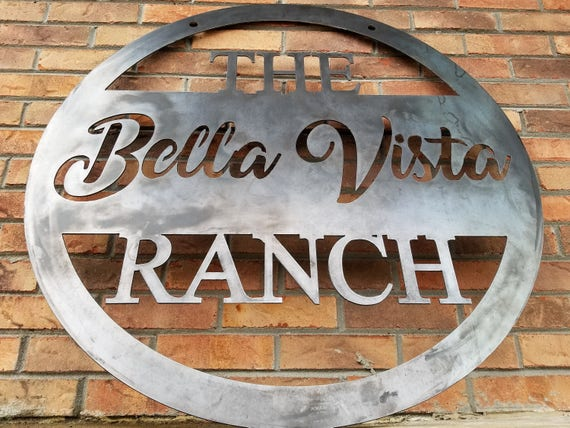 Hanging Ranch Sign Farm Personalized Family Name Sign Custom Metal Sign