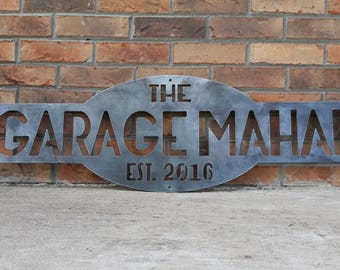 Custom Metal Sign- Last Name, Personalized, Custom, Garage