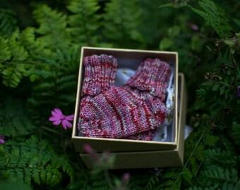 Handknitted Socks : Newborn Baby