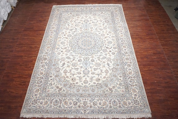 11x16 Wool Silk Persian Naein Hand Knotted Oversized Area Etsy