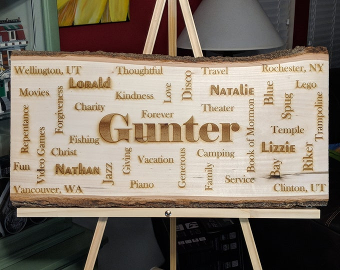 Featured listing image: Laser Cut Rustic Family Name Plaque