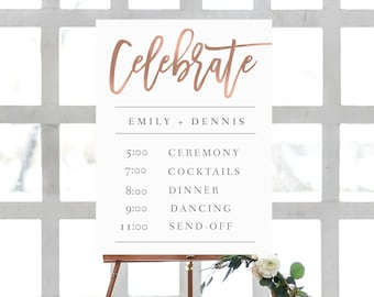 wedding chart order of events template order of events etsy