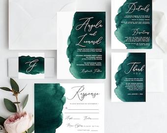 Digital Download Purple /& White Watercolour Engagement Ring Watercolor Wedding Custom Hayden Suite : Printable Engagement Invitation