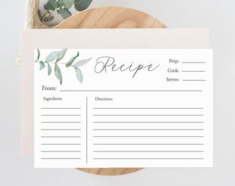 graphic about Free Printable Recipe Cards for Bridal Shower named Recipe playing cards Etsy