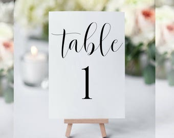 Printable Table Numbers, Table Numbers Wedding, Table Numbers Printable, Table Numbers Template, Rustic Table Numbers, Wedding Table Numbers
