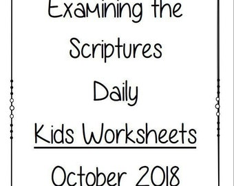 jw convention etsy Pioneer Jehovah Witness kids examining the scriptures daily personal study booklet october 2018 family worship jw jehovah s witnesses homeschool