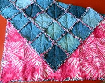 Custom Memorial Rag Quilt Throws