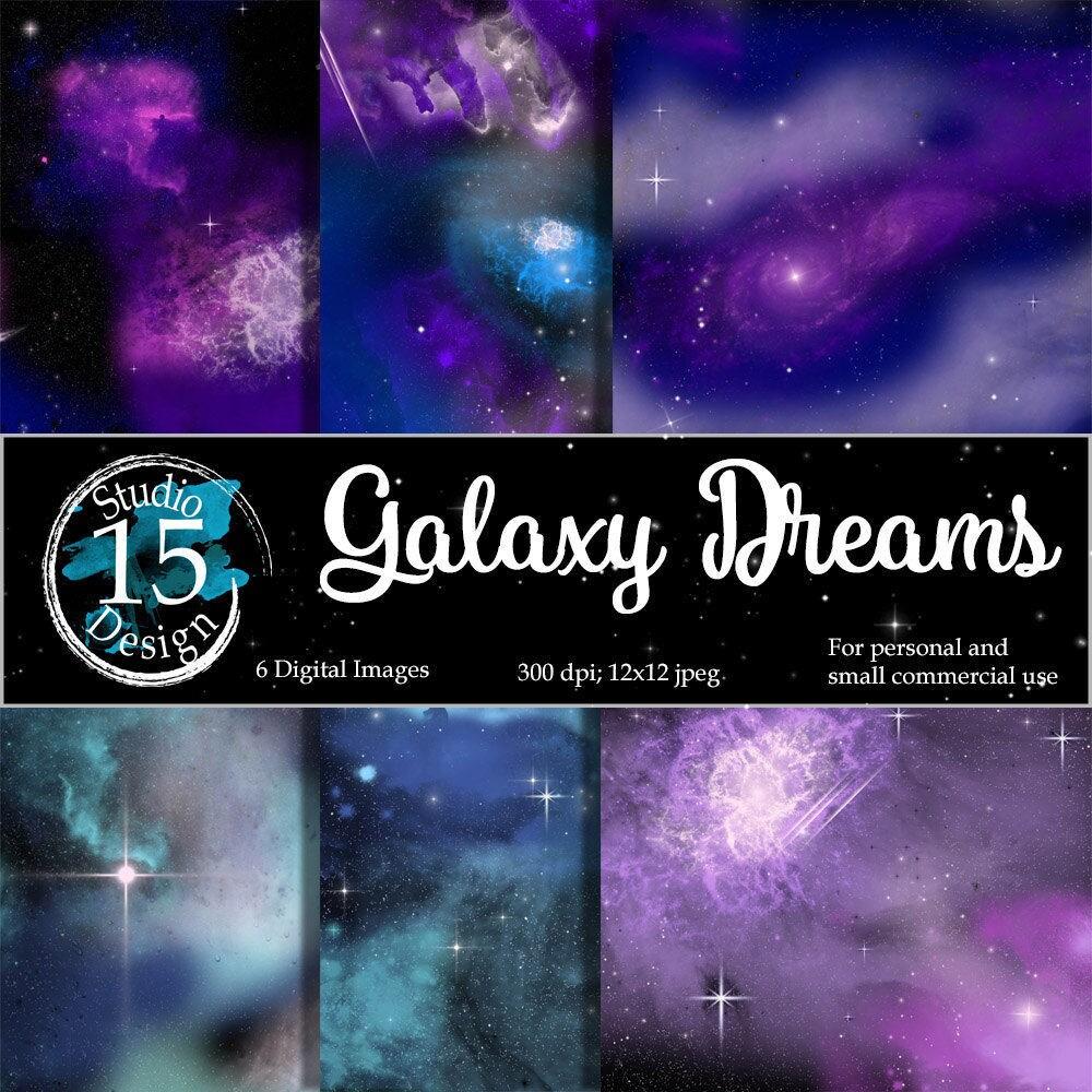 Galaxy Digital PaperGalaxy Dreams nebula digital | Etsy
