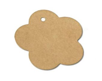 100 pcs. Kraft paper gift tags, favor tags, merchandise tags