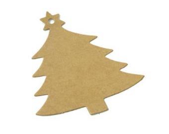 100 pcs. Christmas tree Kraft paper gift tags, favor tags, merchandise tags