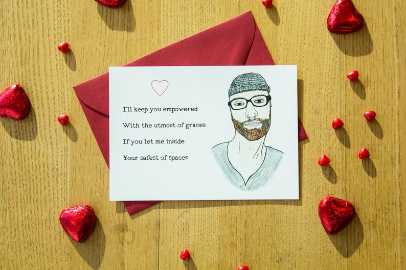 Social Justice Valentines Day Card For Her Hipster Etsy
