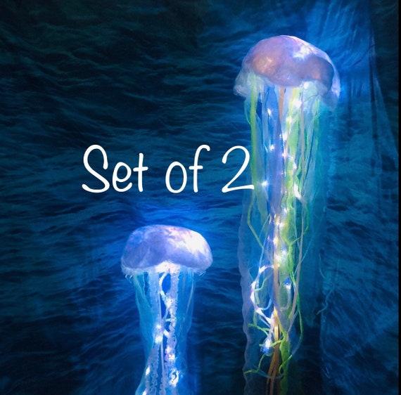 Vestido de Fiesta 3 Sirena Colgante Linternas medusas bajo el mar decoraciones de fiesta temática