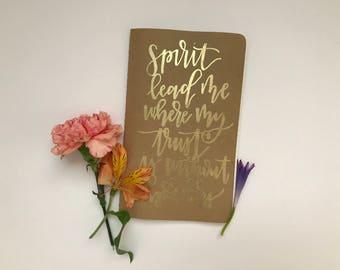 Embossed Hand Lettered Journal