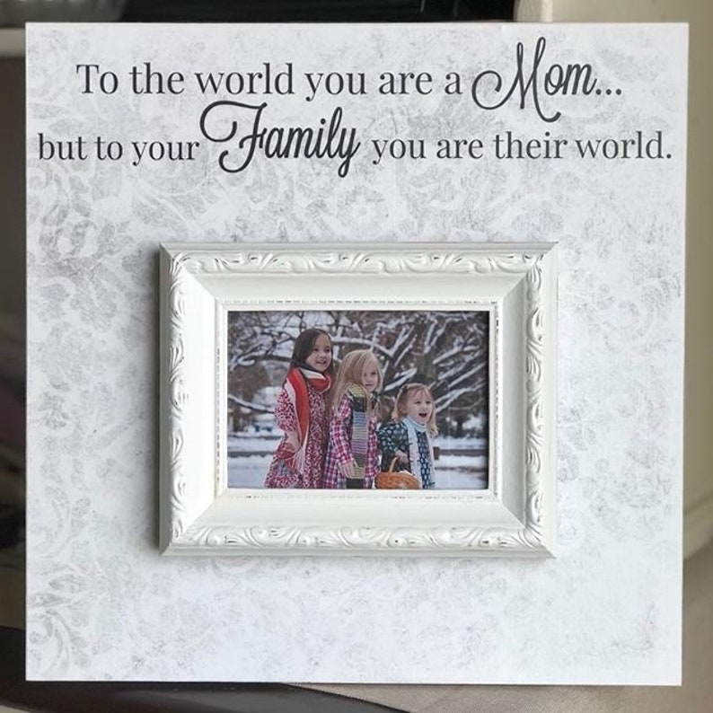 78c6d7d6cd81 TO THE WORLD you are a mom personalized wood frame