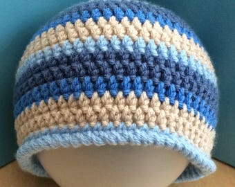 Boys hat, 3-5 Years hat, Crochet Beanie Hat, toddler hat, vegan toddler hat, vegan friendly hat, preschool hat, boys crochet hat, childs hat