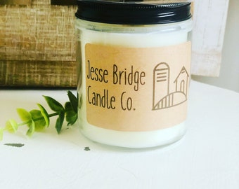 beeswax soy blend with wood wick Winter Woods Vintage Ball Mason jar candle or melts