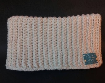 Butter-colored acrylic wool neck warmer