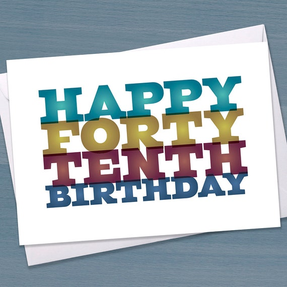Funny 50th Birthday Card Big 5-0 Fiftieth Birthday Forty