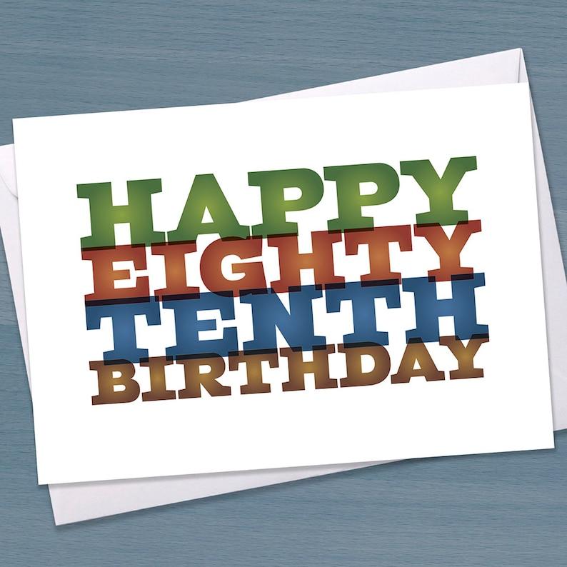 Funny 90th Birthday Card Eighty Tenth Big 9 0 Ninetieth