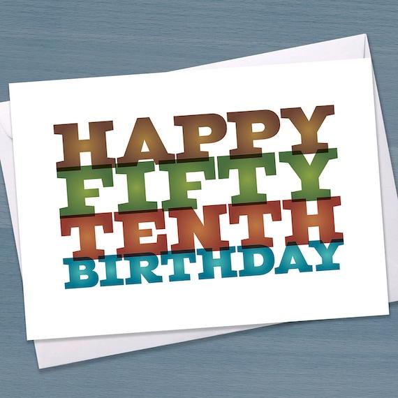 Funny 60th Birthday Card Big 6 0 Sixtieth Fifty
