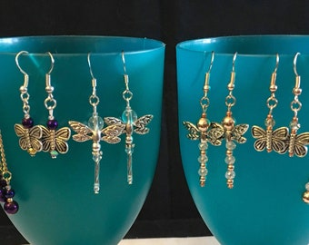 Dragonfly & Butterfly Earrings