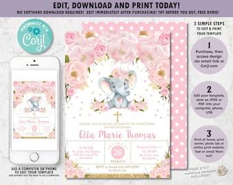 Elephant invitation | Etsy