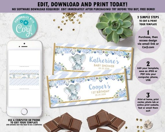 Teddy Bear Pastel Chocolate Bar Candy Wrapper Bear Gift Favor Aldi Chocceur or Hershey DIY Party Template Instant Download Editable