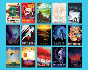 Full Set of 15 NASA Exoplanets Posters, Space Tourism Posters, Home Decor includes TRAPPIST-1 Poster | Complete Collection of NASA Prints A4
