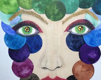 "Gradient (Original Art) 9""x12"" Vibrant Watercolor"